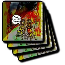 HOT Vacations In California - Set Of 4 Ceramic Tile Coasters