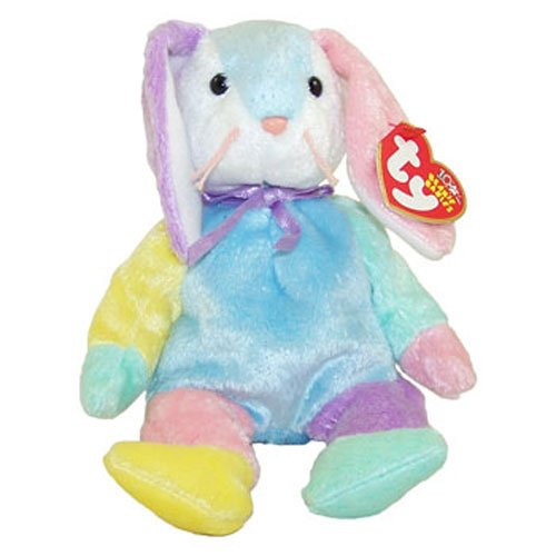 TY Beanie Baby - DIPPY the Multi-Colored Rabbit (Blue & White Head) (8.5 inch)
