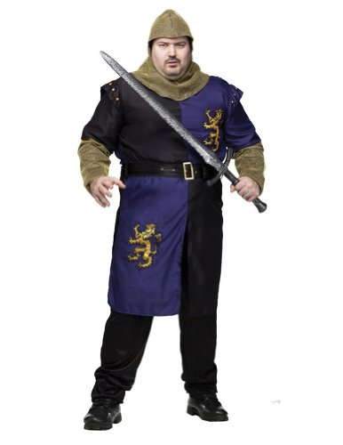Adult-Costume Renaissance Knight Plus Adult Costume Halloween Costume