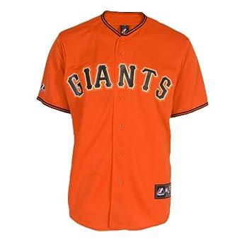 MLB San Francisco Giants Buster Posey Orange Replica Baseball Jersey, Orange by Majestic