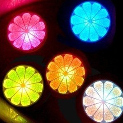 Color Change Led Fruit Bath Bathing Mood Lamp Night Light Baby back-1040007