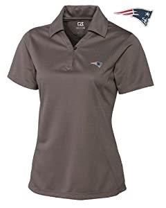 New England Patriots Ladies Ladies Drytec Genre Polo Circuit by Cutter & Buck