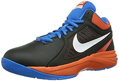 Nike Men's The Overplay VIII Black/White/Team Orange/Pht Bl Basketball Shoe 8 Men US