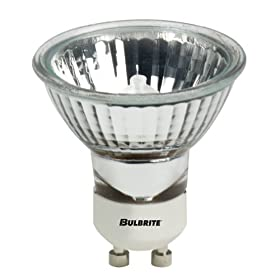 Bulbrite FMW/GU10 35-Watt Halogen MR16, 120V, GU10 Twist and Lock Base 38 Degree Flood Light