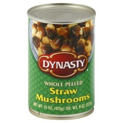 DYNASTY Whole Peeled Straw Mushrooms , 15 Ounce Can  3-Pack (Can Mushroom compare prices)