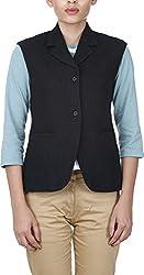 Baba Rancho Women's Regular Fit Coat (C 00203_S, Black, S)