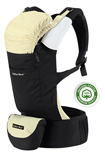 Mother-Nest-Baby-Carrier-Ergonomic-for-Infants-Toddlers12-33-lbs-Front-Back-Positions-100-Cotton-Machine-Washable-4-Multifunction-Pockets-2-Soft-Removable-Drool-Pads