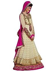 Stylelok Off White Georgette Anarkali Suits Sl 71297