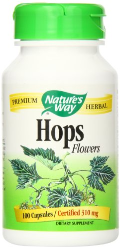 Nature's Way Hops Flowers, 310mg, 100 Capsules