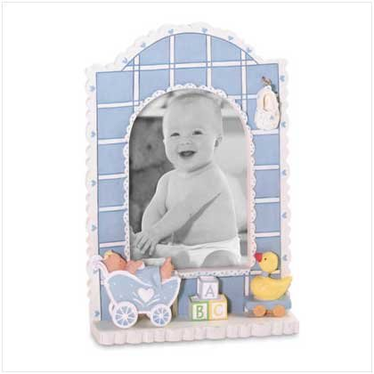 Baby Boy Quilt Photo Frame - Style 36290