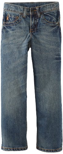 Wrangler Big Boys' Relaxed Fit Straight Leg Style Jean, High Noon, 14