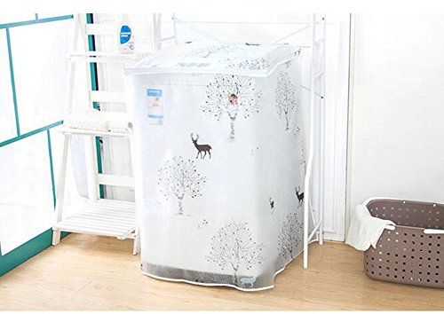 [Cyber Monday]IBEET Washing Machine Cover - Washing Machine Zippered Top Load Dust Cover,Washer Machine Cover Waterproof,Transparency,Premium Quality Easy Access - 23.52232.5 Inch (Front Loading Washer Cleaner compare prices)