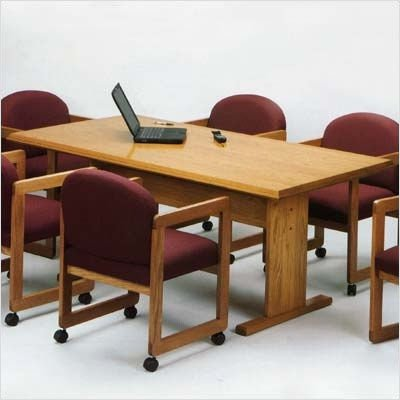 Contemporary Series Rectangular Conference Table (Trestle Base) Finish: Cherry, Profile: Bullnose, Size: 60""