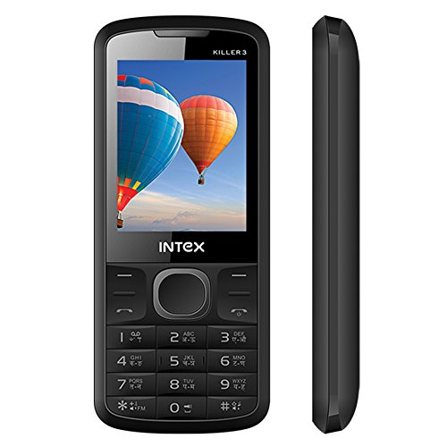 Intex Killer 3 (Big Speaker,Camera With Dual LED Flash,FM With Recording,Bluetooth) (Dual Sim) (Grey & Black)