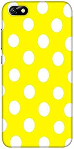 Snoogg Yellow Polka Dot Designer Protective Back Case Cover For Huawei Honor 4X