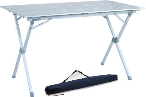 Beau 4 6 Person Aluminum Roll Up Top Folding Camping Table/TA 8114