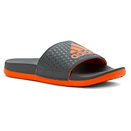 adidas Performance Adilette Sc K Sandal (Little Kid/Big Kid), Onix/Orange/Orange, 5 M US Big Kid