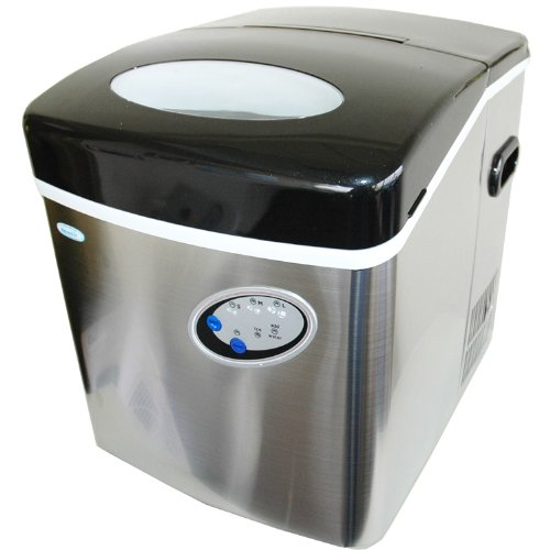 NewAir AI-200SS Portable Ice Maker In Stainless Steel With 35 Pound Daily Ice Making Capacity