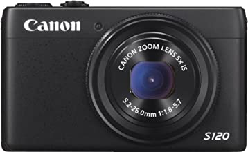 Canon PowerShot S120 Camera - Black (12.1MP, 5x Zoom) 3 inch Touch LCD
