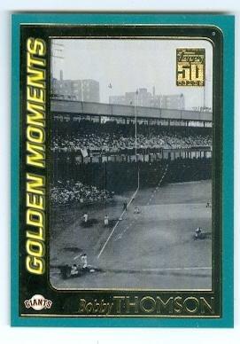 shot-heard-round-the-world-baseball-card-new-york-giants-2001-topps-379-bobby-thomson-1951