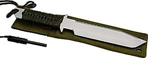 "11"" Full Tang Fire Starter Hunting Camping Knife W/flint"