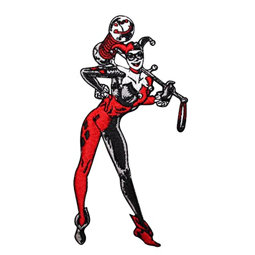 """DC Comics HARLEY QUINN Standing Figure 4 3/4"""" Tall Embroidered PATCH"""
