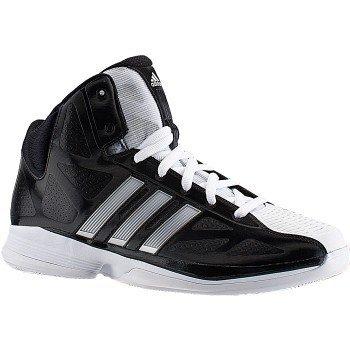 adidas Women's Pro Model 0 II Basketball Shoe,Black/Running White,10.5 M US