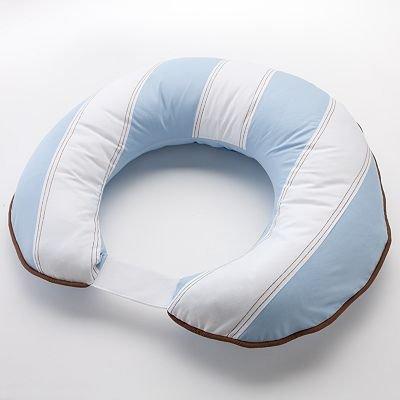Metro Nursing Pillow Cover Color: Blue / White / Chocolate