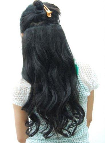 Full Head 3/4, non Extension Clip in capelli veri, ondulati, 5 ganci, motivo: One Piece