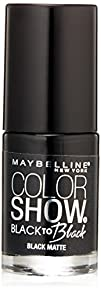 Maybelline New York Color Show Black To Black Nail Color