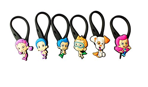 AVIRGO 6 pcs Soft Zipper Pull Charms for Backpack Bag Pendant Jacket Set # 19-3 - 1