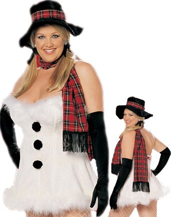 Frosty the Snow Vixen Plus - Women's Plus Size Snow Woman Sexy Holiday Costumes