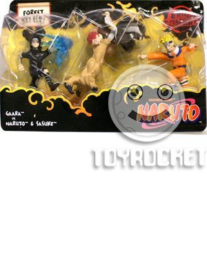 Picture of Mattel Naruto Battle Packs Forest Battle Action Figure Multi-Pack (B000VYBTN2) (Naruto Action Figures)