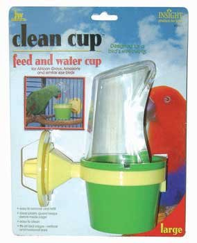 Cheap 2 Pack Insight Clean Cup Hooded Feeder Large (Catalog Category: Bird / Cups-plastic) (BJW31311)