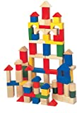 Maxim 60 Color and 40 Natural Building Blocks, 100-Pieces