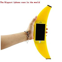 O\'plaza ® Big Banana Case 3d Cute Funny Silicone Soft Cartoon Protection Back Cover Shell for iphone 5s 5 or iPhone 6,6s (4.7\
