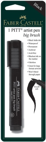 Faber-Castel PITT Artist Big Brush Pen, Black (Faber Castell Big Brush compare prices)