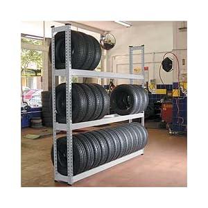 Tire Rack Storage on Metal Point Plus Tire Storage Rack  Amazon Com  Industrial