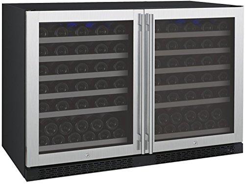 Buy Cheap Allavino FlexCount 2X-VSWR56-2SST - 112 Bottle Multi-Zone Wine Refrigerator - Side by Side