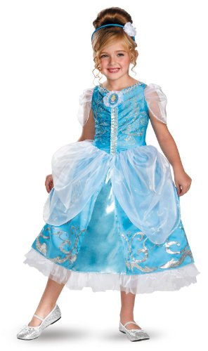 Disguise Disney's Cinderella Sparkle Deluxe Girls Costume