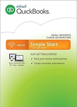QuickBooks Online Simple Start [1-Year Subscription]