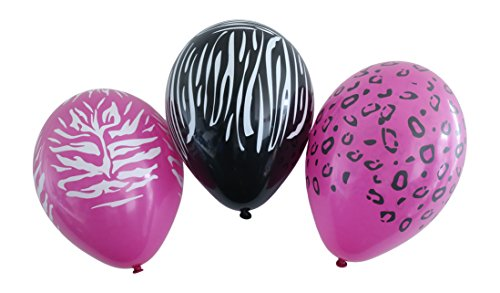 Karaloon 11-Inch Wild Animal Print Balloons (Pack of 30)