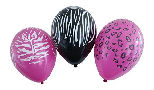 Karaloon 11-Inch Wild Animal Print Balloons (Pack of 30)