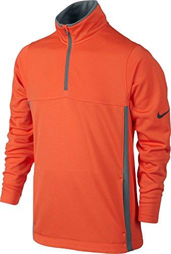 Nike Thermal 1/2 Zip 2.0 Golf Top 2015 Electro Orange/Cool Grey X-Large