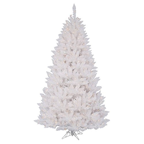 """Crystal White Spruce 3' 6"""" Artificial Christmas Tree With 110 Led Multicolored Lights With Stand"""