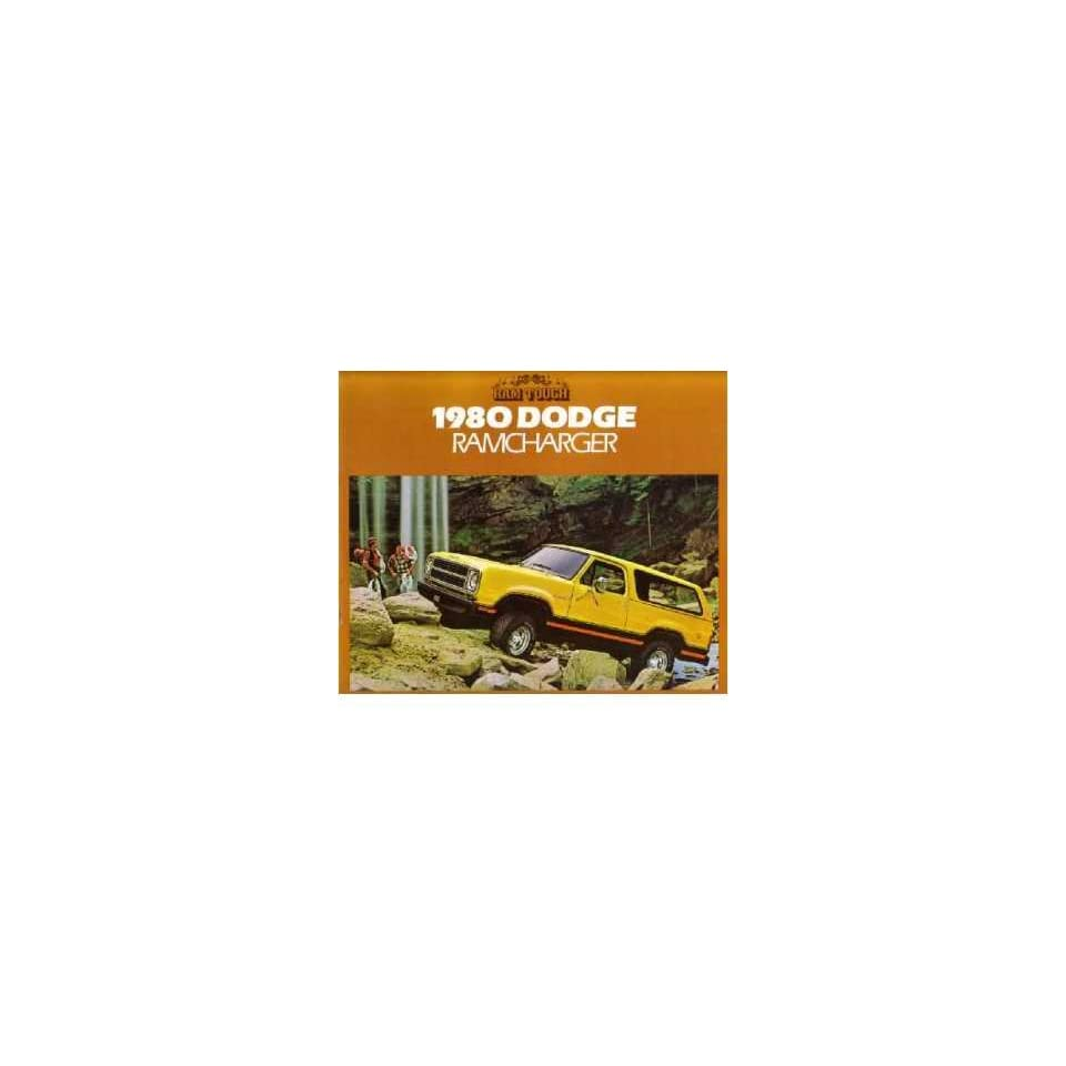 1980 Dodge RAMCharger Sales Brochure Literature Book Piece Dealer Advertisement