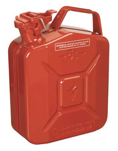 Sealey JC5MR Jerry Can, 5 Liter, Red