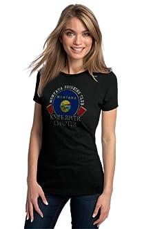 buy Montana Drinking Club, Knife River Chapter | Ladies' T-Shirt-Medium