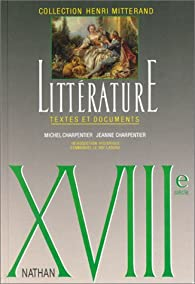 Xviiie Siecle Litterature Textes Et Documents Le Livre De