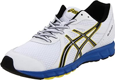 ASICS Men's Rush33 Running Shoe,White/Black/Brilliant Blue,7 M US